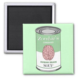 Zombie's Human Brain Soup Square Magnet