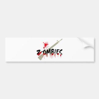 Zombies Hunter Bumper Sticker