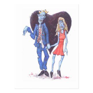 Zombies in love postcard