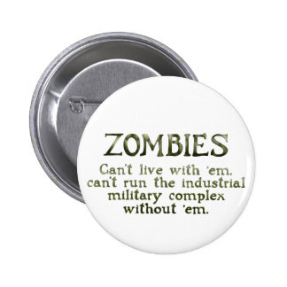 Zombies Industrial Military Complex 6 Cm Round Badge