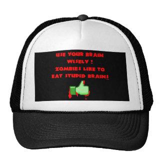 Zombies like stupid brains mesh hats