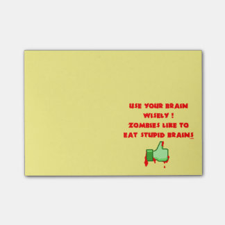 Zombies like stupid brains post-it® notes