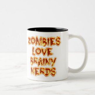 Zombies Love Brainy Nerds Coffee Mug