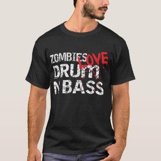 Zombies Love Drum n Bass Dark T-Shirt