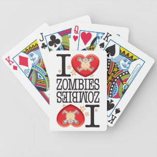 Zombies Love Man Bicycle Playing Cards