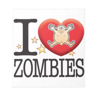 Zombies Love Man Notepad