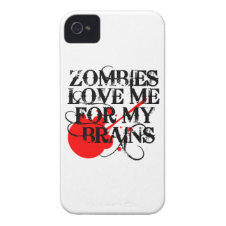 Zombies Love Me For My Brain iPhone 4 Case-Mate Case