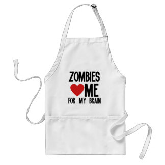 Zombies Love Me for my Brain Standard Apron