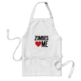 Zombies love me standard apron