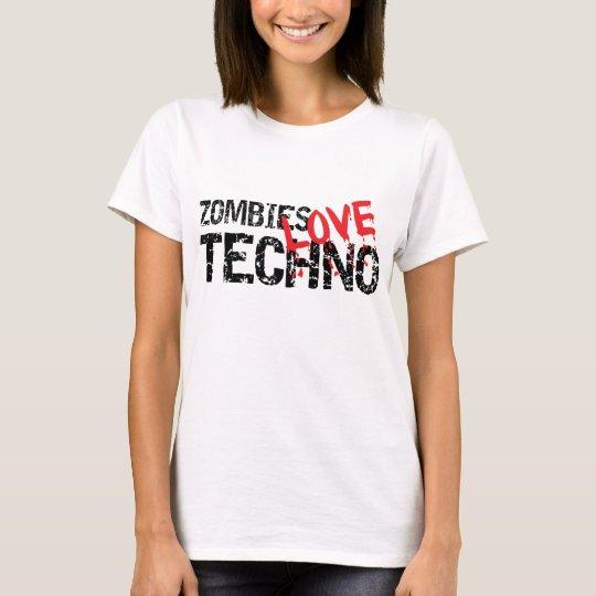 Zombies Love Techno T-Shirt
