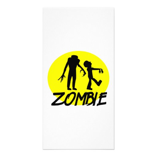 Zombies moon photo greeting card
