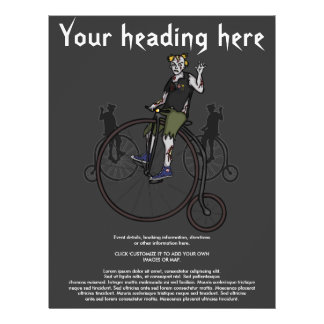 Zombies on Penny Farthings, flyer