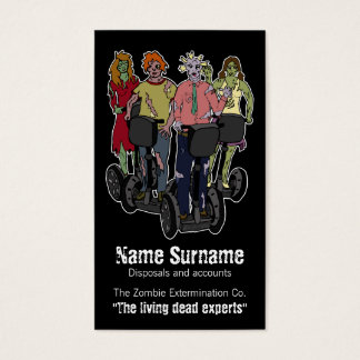 Zombies on Segways 2, business card template