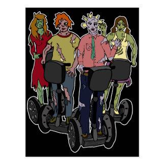 Zombies on Segways 2 postcard