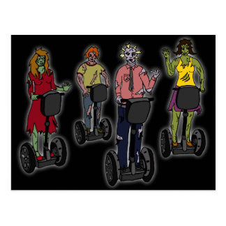 Zombies on Segways, postcard