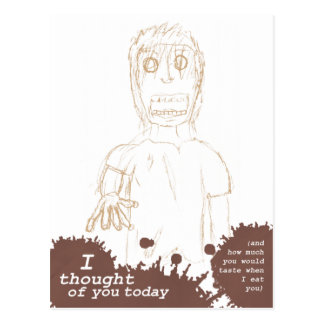 "Zombies Postcard - ""I thought of you today"""