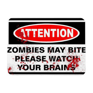 zombies rectangular photo magnet