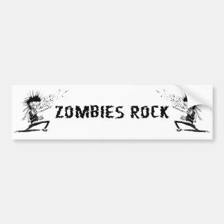 zombies rock bumper sticker