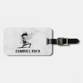 zombies rock luggage tag