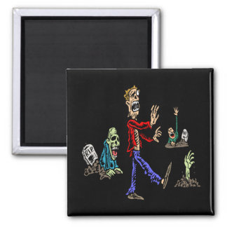 Zombies Square Magnet