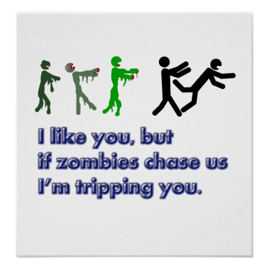 Zombies trip sign