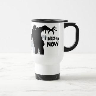 Zombies Wants Coffee Travel Mug