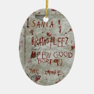 zombies wish ceramic oval decoration