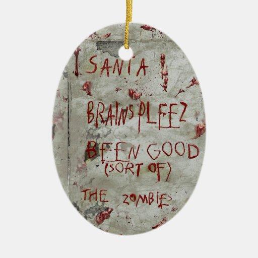zombies wish christmas tree ornaments