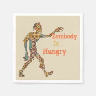 Zombody Is Hungry Disposable Serviette