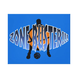 ZONE BUSTER!!! Gradient Stretched Canvas Print