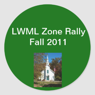 Zone Rally sample 2 Classic Round Sticker