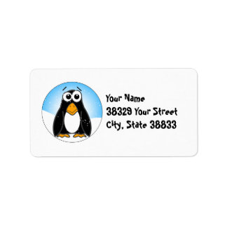 Zoned Out Penguin Address Label