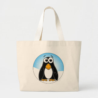 Zoned Out Penguin Canvas Bags