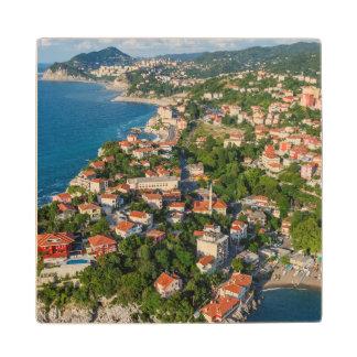 Zonguldak, Aerial, Black Sea Coast Of Turkey 2 Wood Coaster