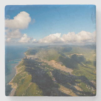 Zonguldak, Aerial, Black Sea Coast Of Turkey Stone Coaster