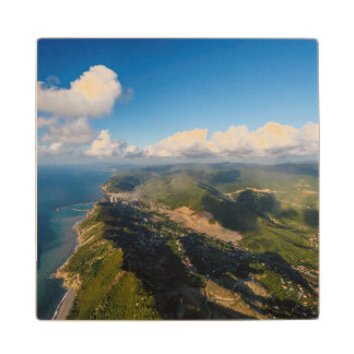 Zonguldak, Aerial, Black Sea Coast Of Turkey Wood Coaster
