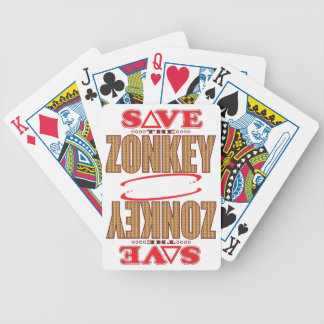 Zonkey Save Bicycle Playing Cards