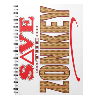 Zonkey Save Spiral Notebook