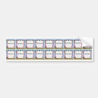 Zoo Animal Sippy Cup Labels Bumper Stickers