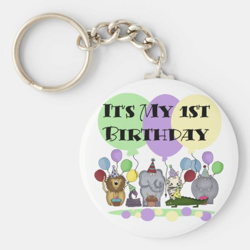 Zoo Animals 1st Birthday Tshirts and Gifts Keychains