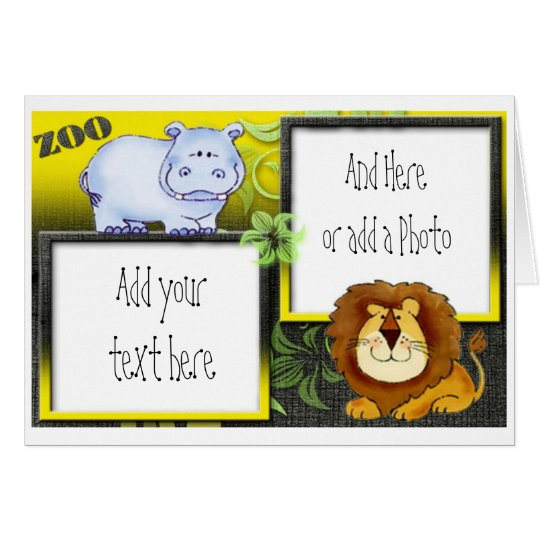 Zoo Animals Childs Birthday Party Invitations