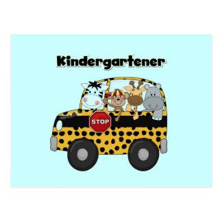 Zoo Animals Kindergartener Postcard