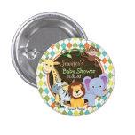 Zoo Animals on Colourful Argyle Badges