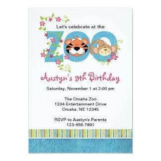Zoo Birthday Party Invitations