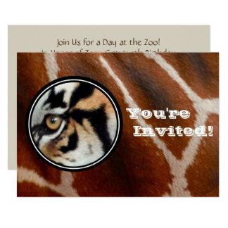 Zoo Birthday Party | Tiger Giraffe Jungle Safari Card