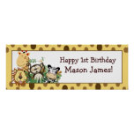Zoo Crew Jungle Personalised Birthday Banner Poster