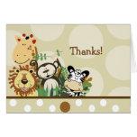 ZOO CREW Jungle Safari Folded thank you note Greeting Cards