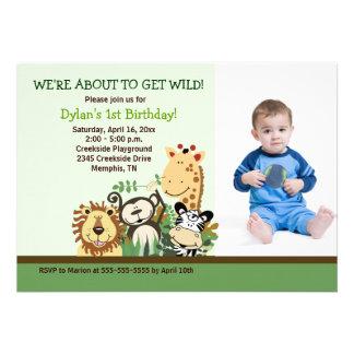 Zoo Crew Jungle Safari *PHOTO* Birthday 5x7 Invite