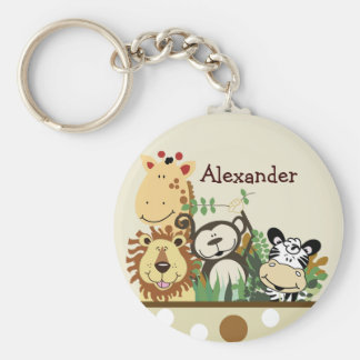 ZOO CREW (Tan) Favor or Name Tag Key Chains