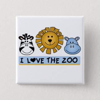 Zoo Friends 15 Cm Square Badge